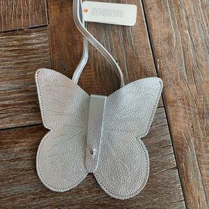Nwt Gymboree girls silver butterfly 🦋 purse